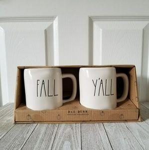 Rae Dunn FALL Y'ALL Mug Set